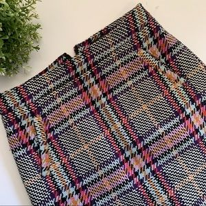 Halogen Pencil Skirt Midi Purple Multi Plaid NWOT